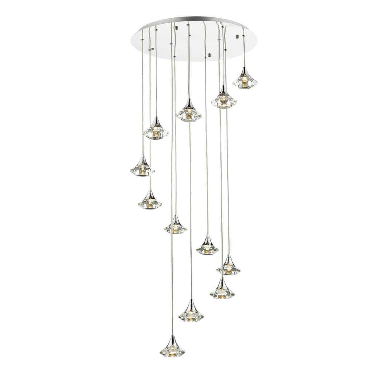 Luther 12 light spiral pendant crystal glass lumination lighting luther 12 light spiral pendant crystal glass aloadofball Images